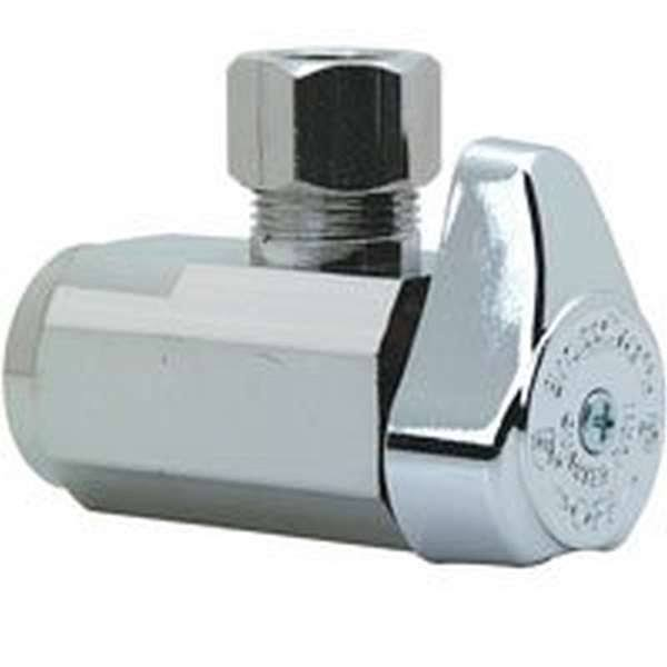 Brass Craft Chrome Angle Stop Valve - 3/8 in