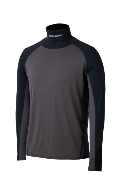 Bauer Hockey Neck Protect Long Sleeve Shirt Top, Adult