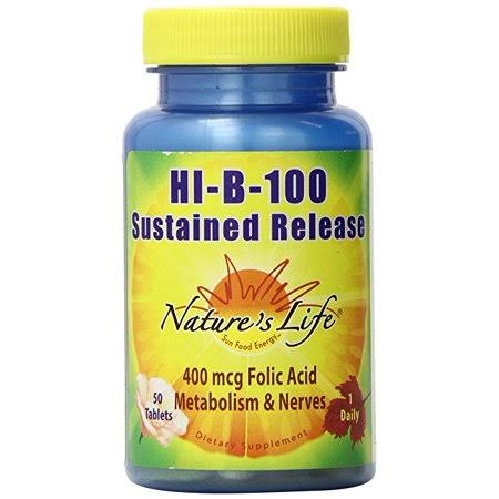 Nature's Life Hi B 100 Sustained Release - 50 Tablet