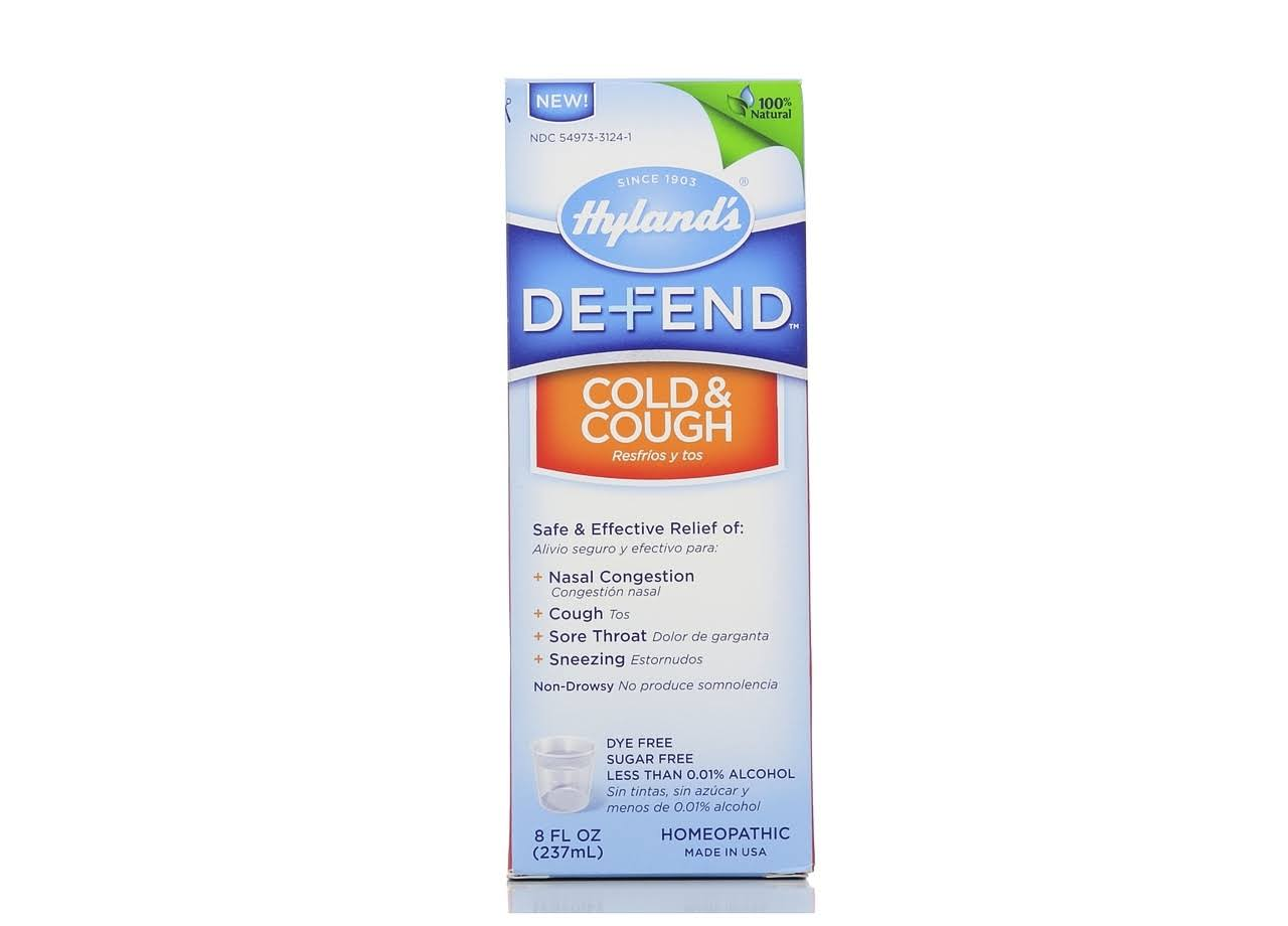 Hyland's Defend Cold & Cough Relief Liquid - 8oz