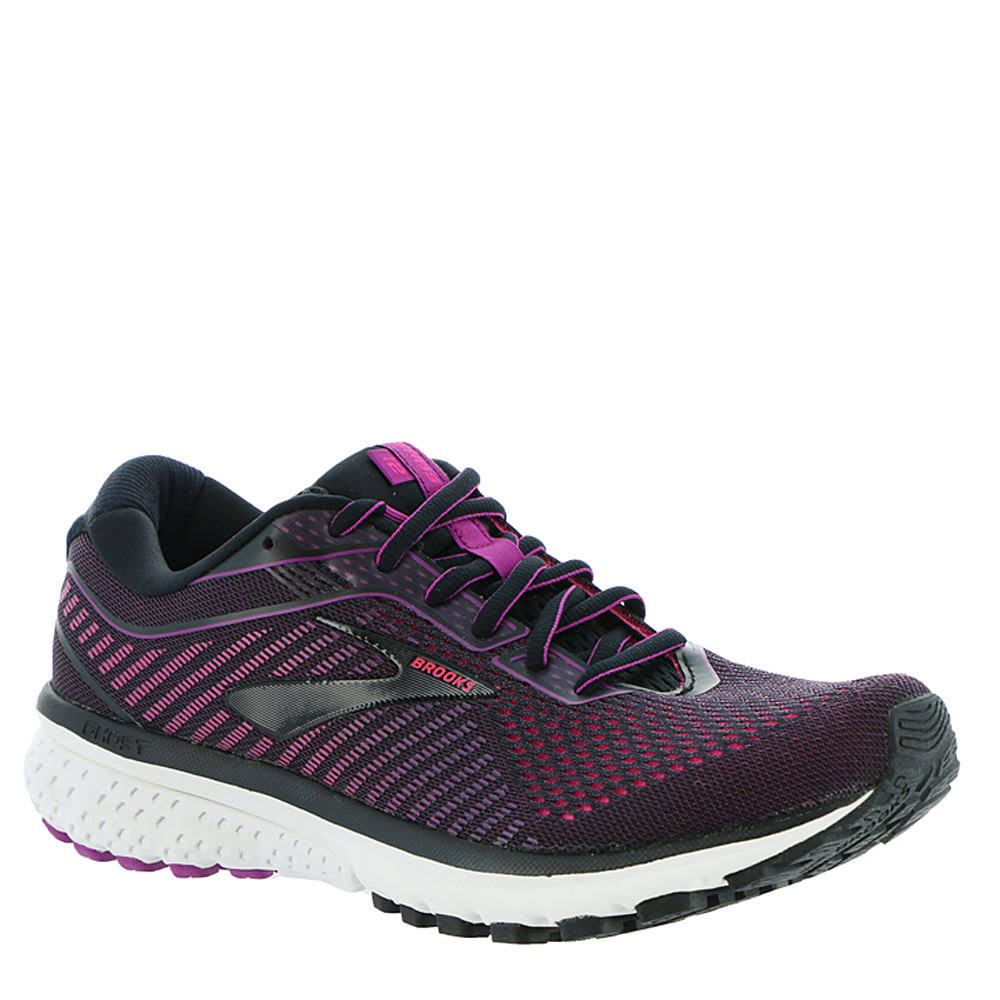 Brooks Ghost 12 (Black/Hollyhock/Pink) Women's Running Shoes