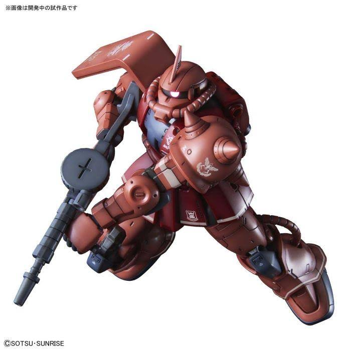 Bandai HG Gundam the Origin MS-06S Char's Zaku II Model Kit - Red Comet , 1/144 Scale