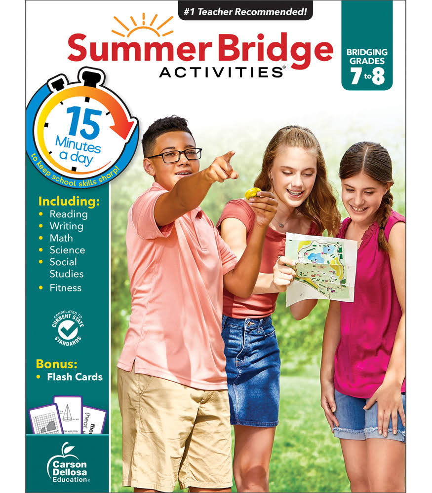 Summer Bridge Activities: Bridging Grades 7 To 8