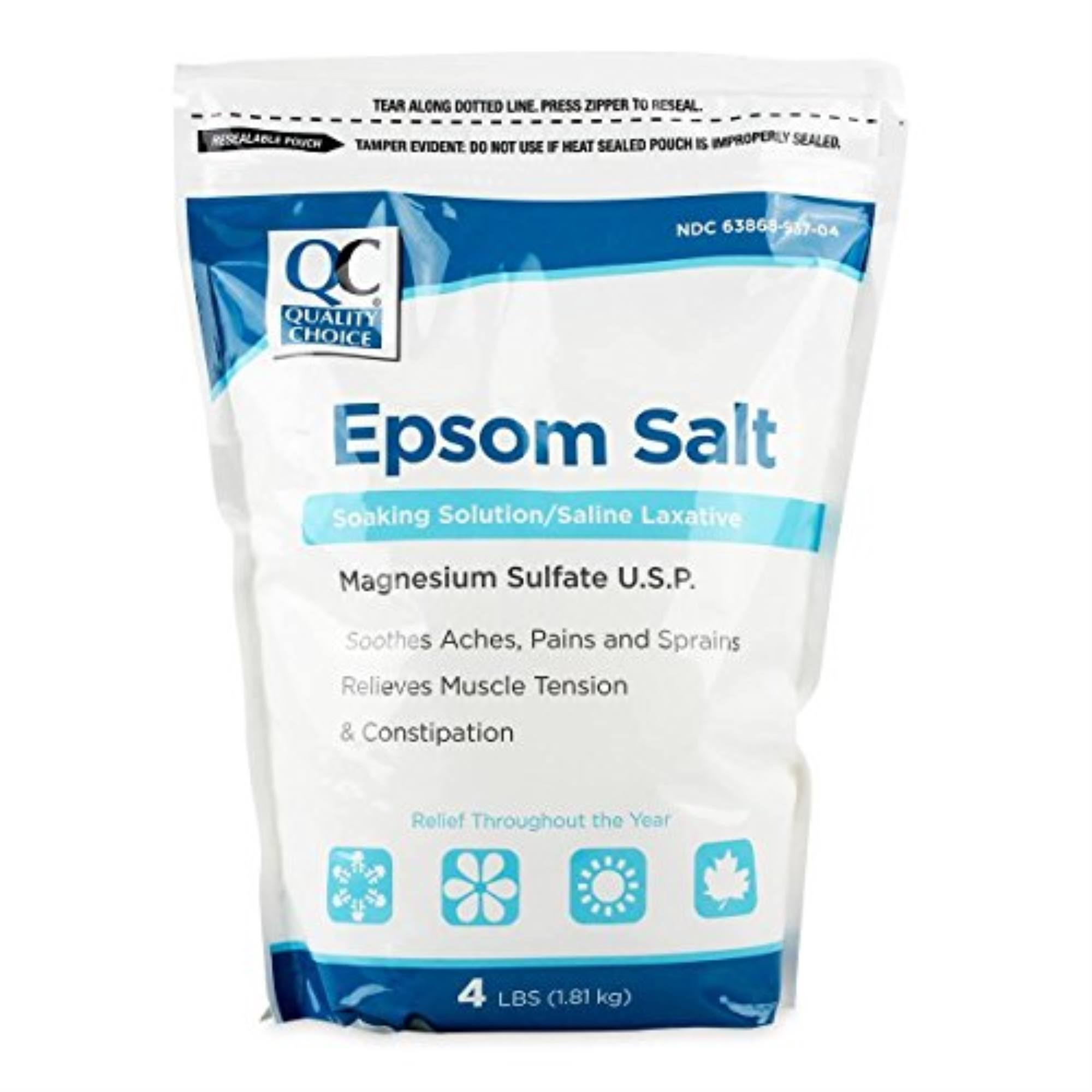 Quality Choice Epsom Salt 4 Pound Bag