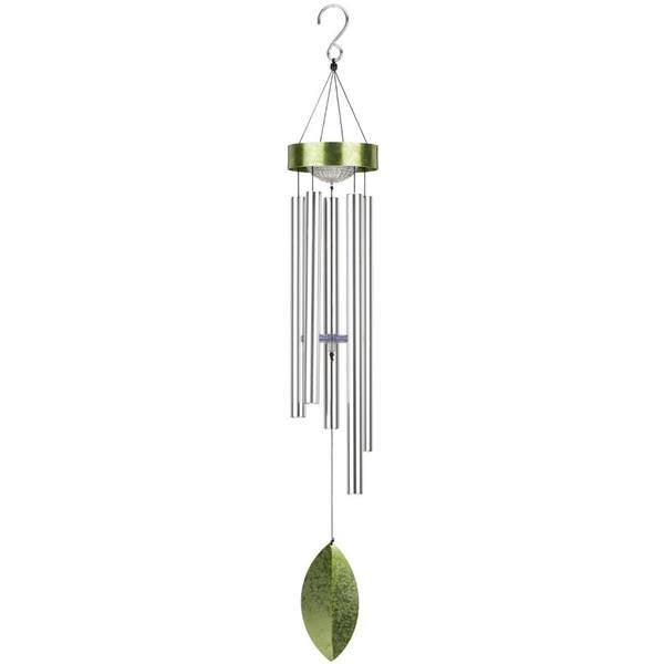 "Regal Art & Gift 42"" Solar Wind Chime - Green"
