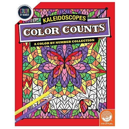 MindWare Color Counts: Kaleidoscopes Color by Number