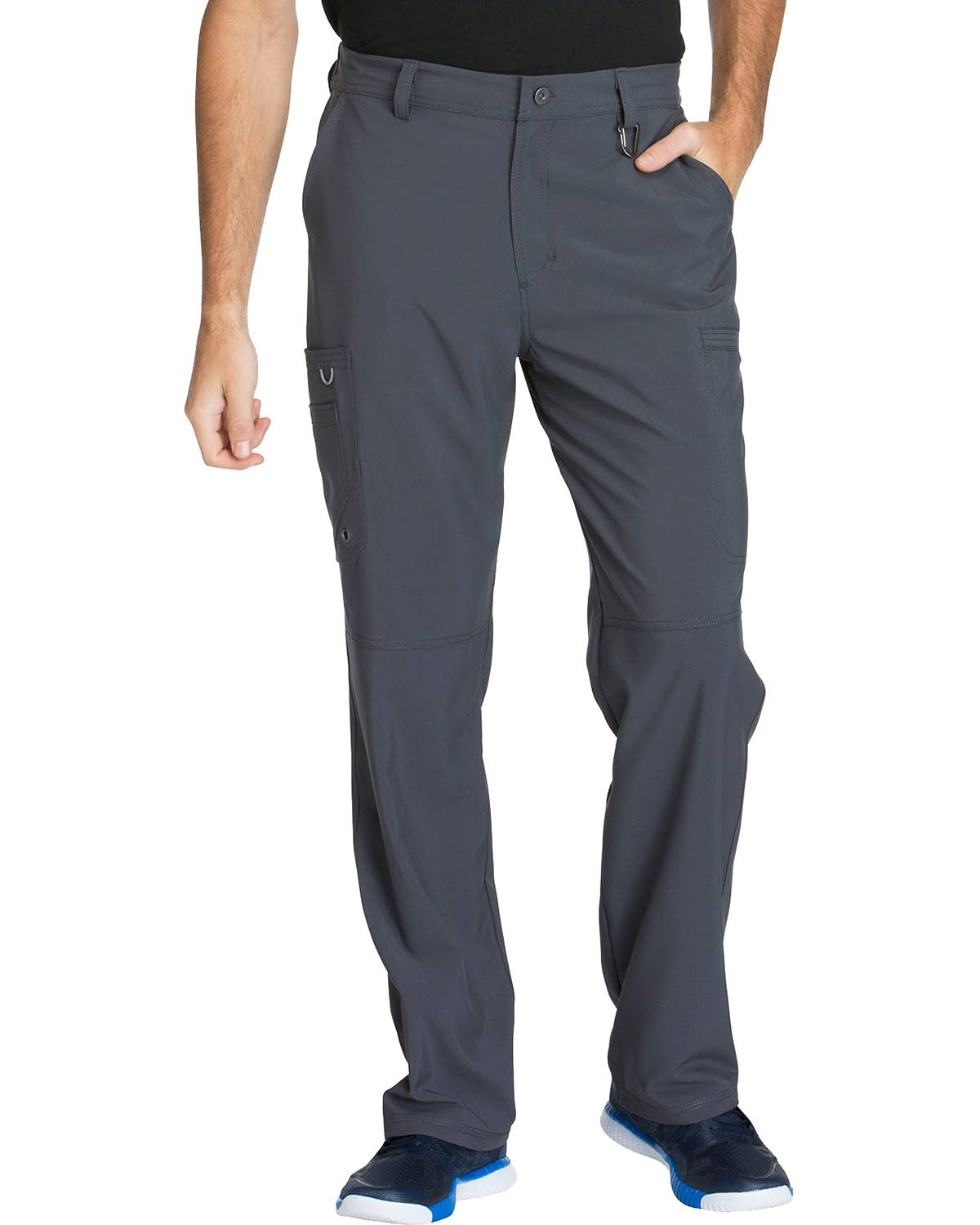 Cherokee Men's Infinity Fly Front Cargo Pants - Pewter, Large