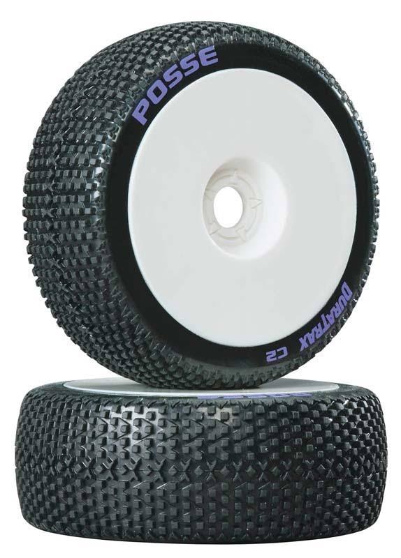 Duratrax 1/8 Posse Buggy Tire C2 Mounted White (2) DTXC3630