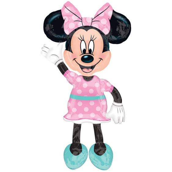 Minnie Mouse Pink Polka Dots Giant Airwalker Foil Balloon - 54""
