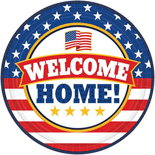 Amscan Welcome Home Round Paper Plate - 18pcs