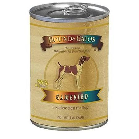 Hound and Gatos Grain Free Complete Dog Meal - Gamebird, 13oz, 12 Pack
