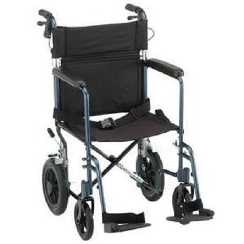 Nova Lightweight Transport Chair - Blue, 19""