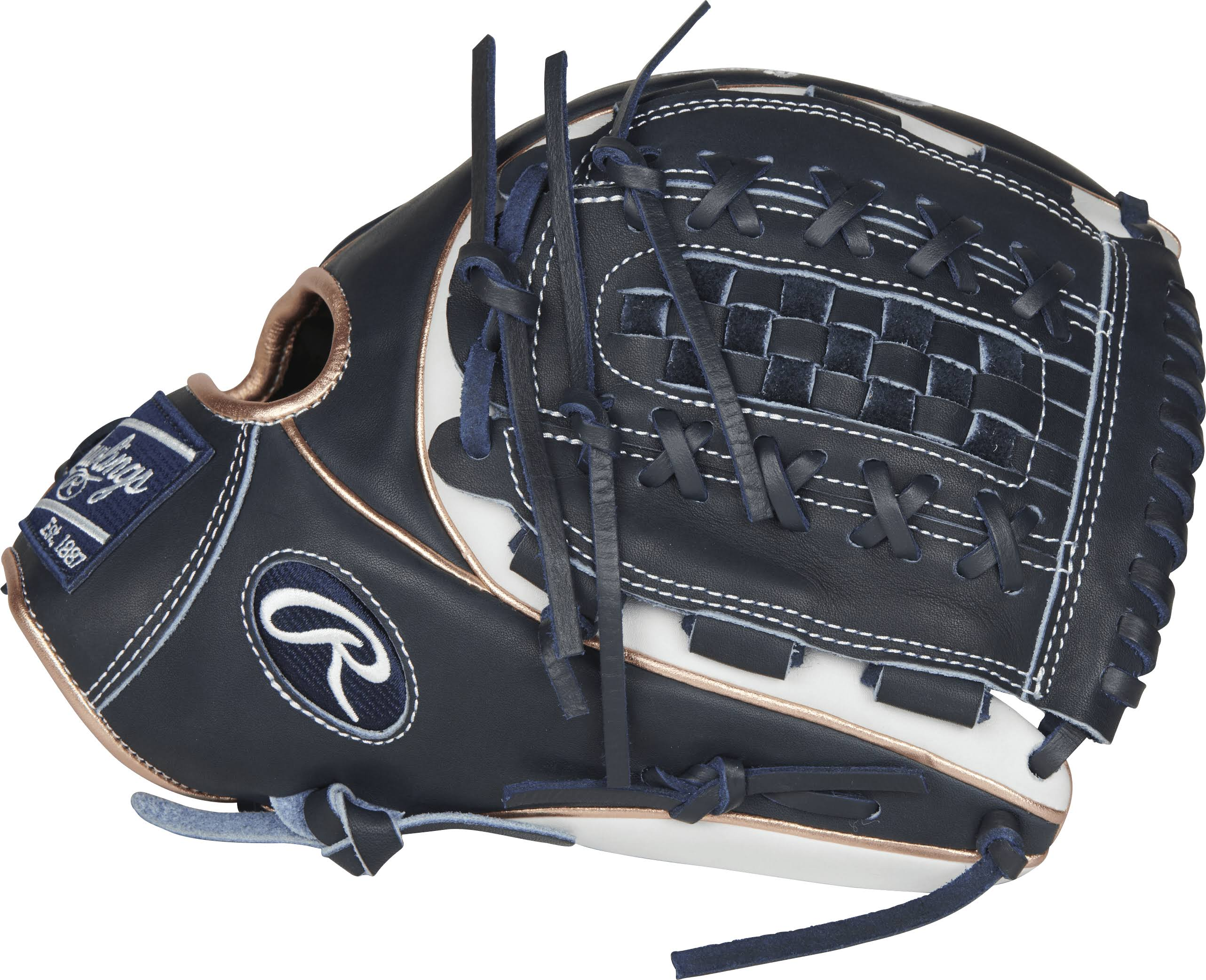 Rawlings Heart of the Hide Softball Gloves - Right-Handed Thrower, Black