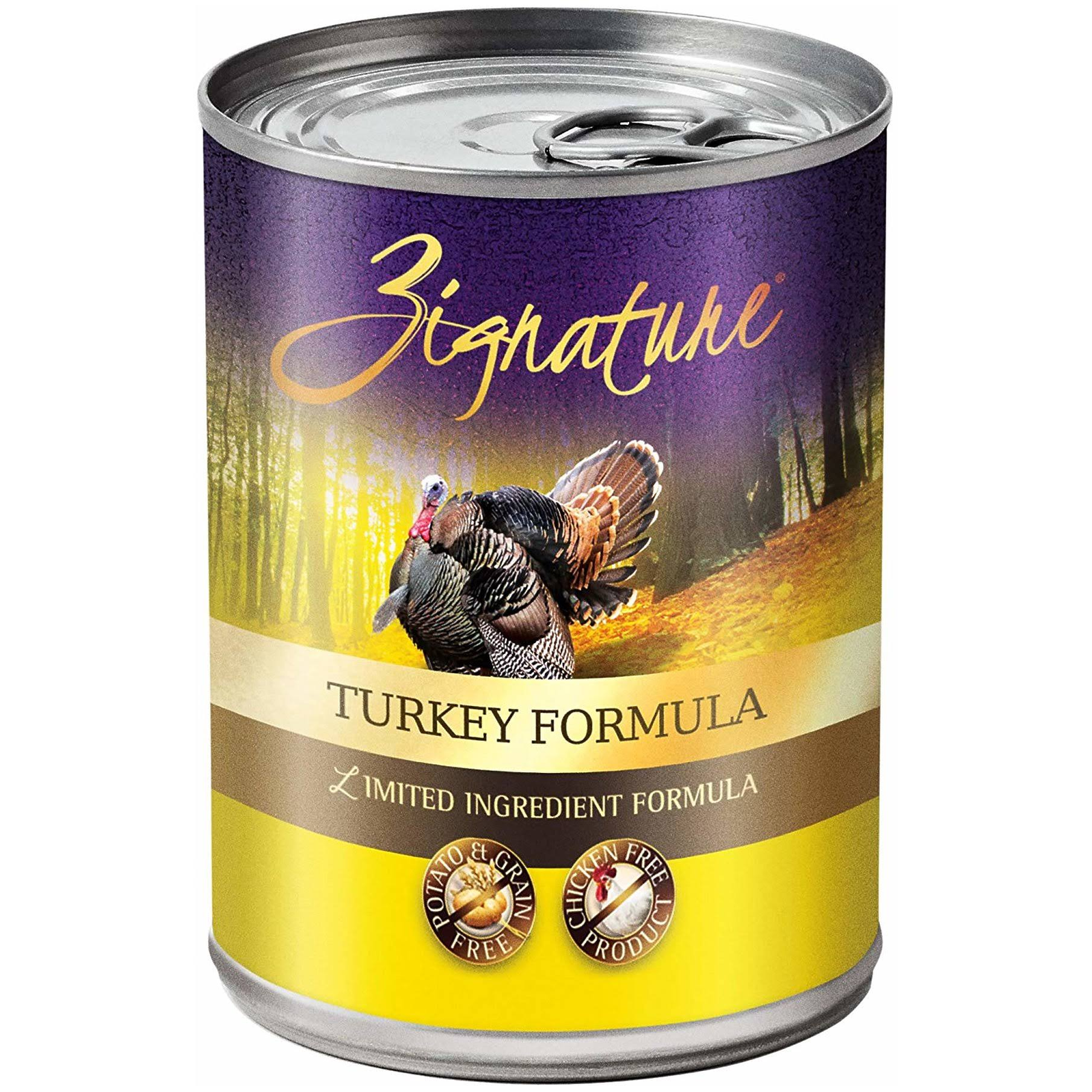 Zignature Dog Food - Turkey, 369g
