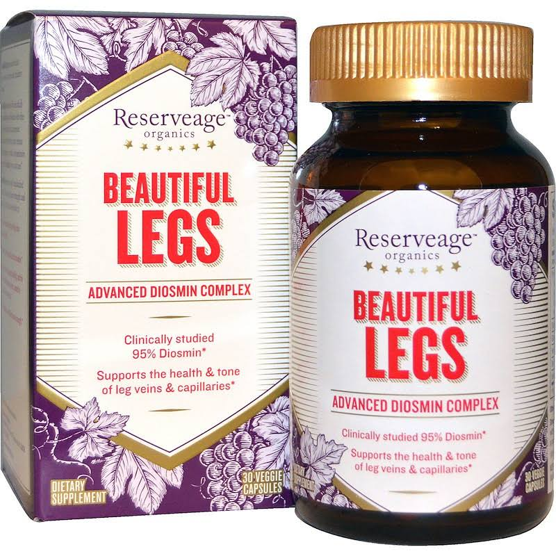Reserveage Organics Beautiful Legs Advanced Diosmin Complex - 30 Vcaps
