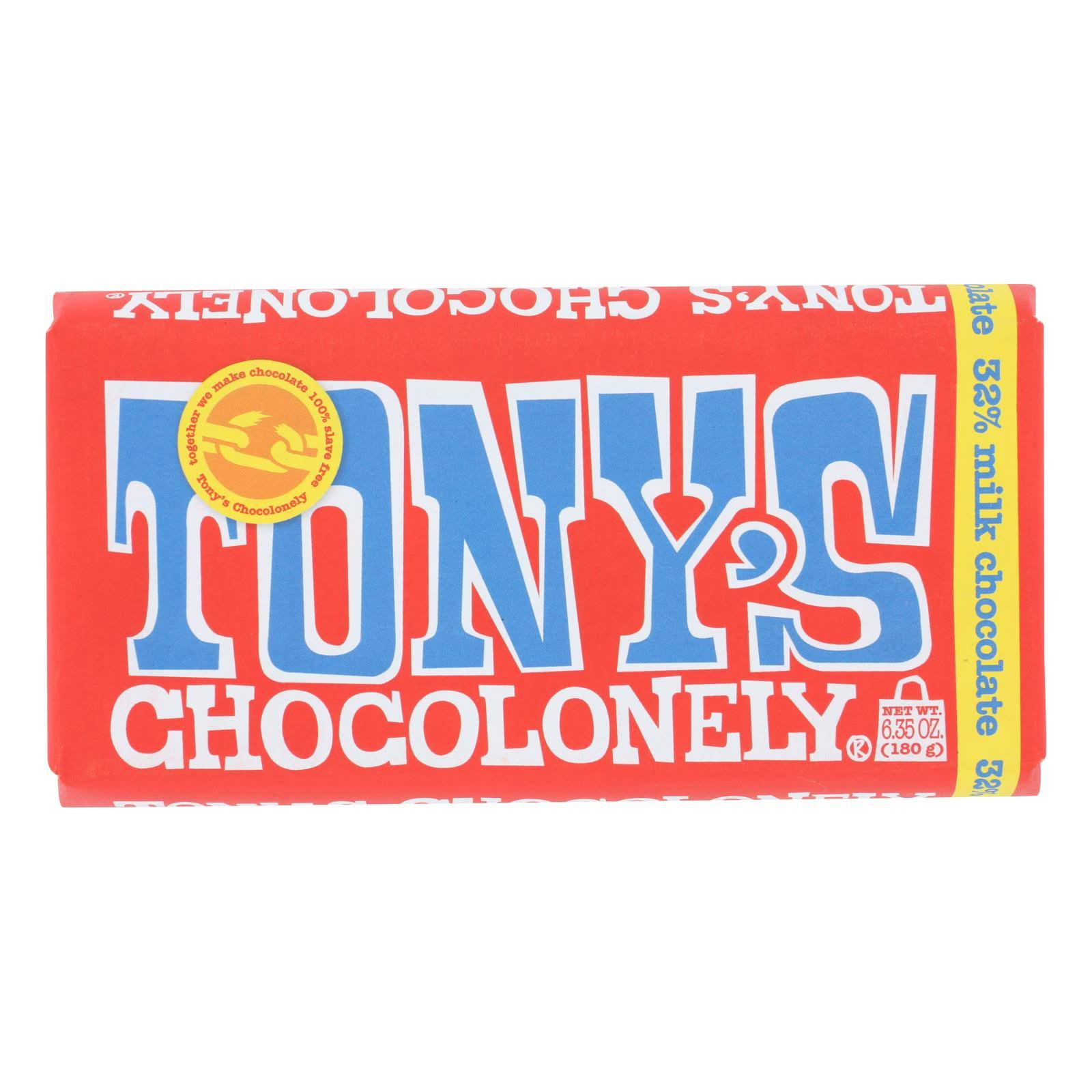 Tonys Chocolonely Milk Chocolate - 6.35 oz