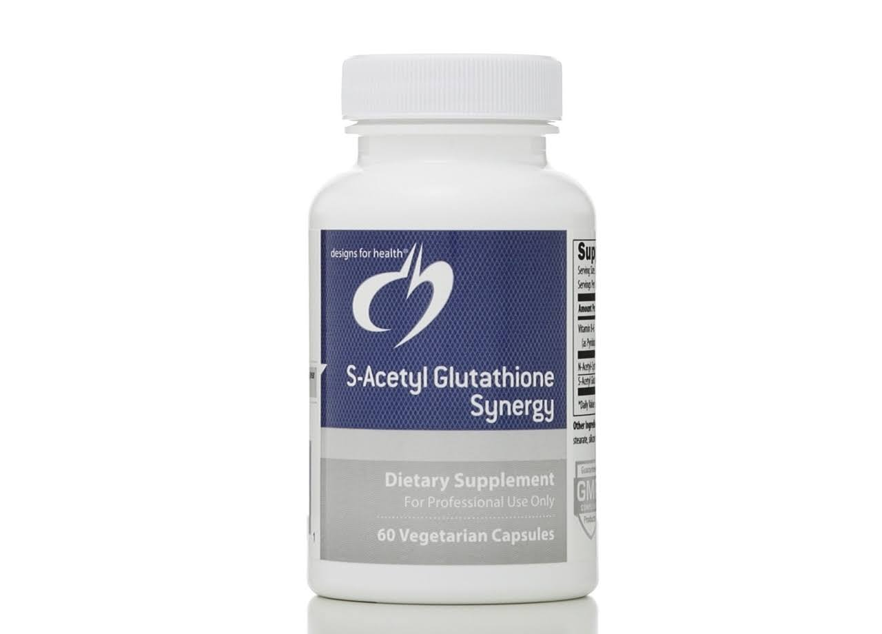 Designs for Health S-acetyl Glutathione Synergy Supplement - 60 Vegetarian Capsules