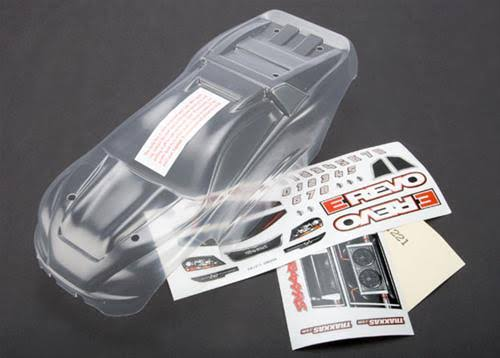 Traxxas 7111 Body 1/16 E-Revo VXL Clear