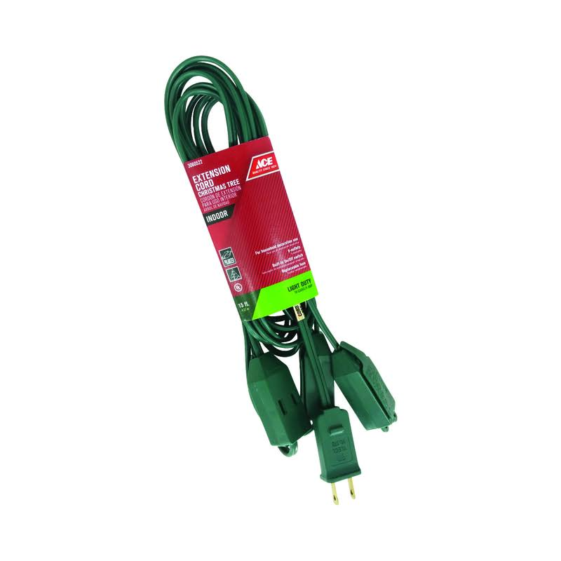 Ace Extension Cord Green, 15'