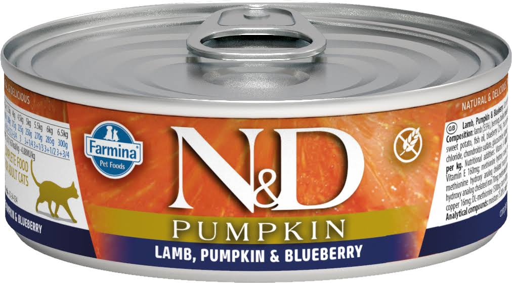 Farmina N and D Cat Canned - Pumpkin Lamb and Blueberry, 80g