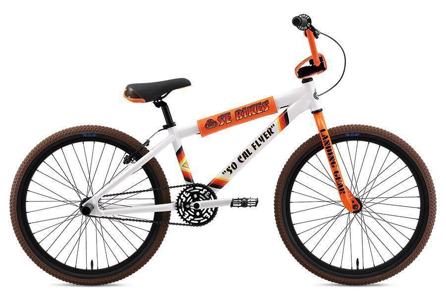 "SE Bikes So Cal Flyer 24"" BMX Bike White"