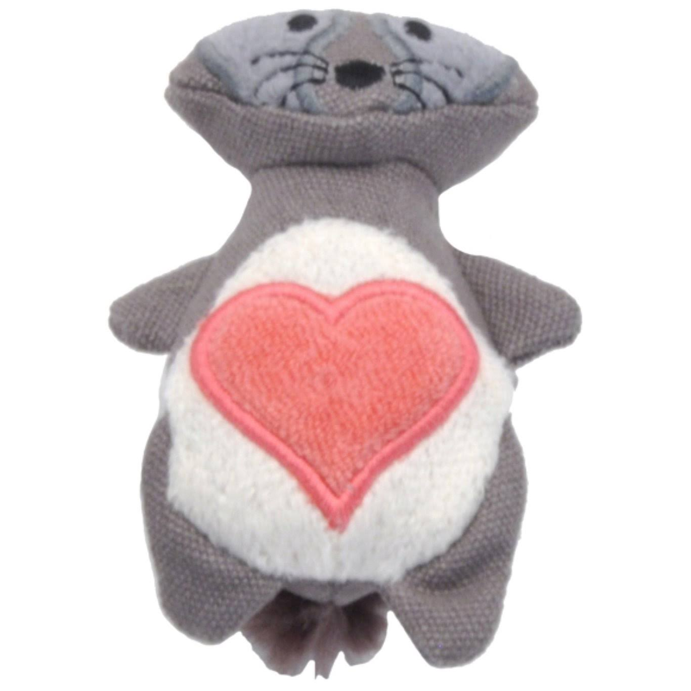 Turbo Scent Locker Heart Plush Animal Cat Toy & Catnip Spray, Raccoon