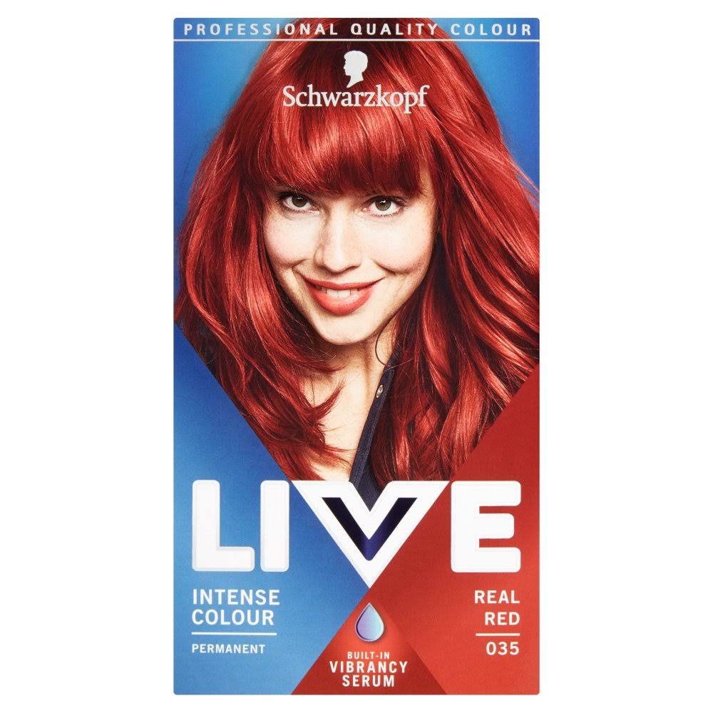 Schwarzkopf Live Intense Colour Permanent Hair Dye - 035 Real Red