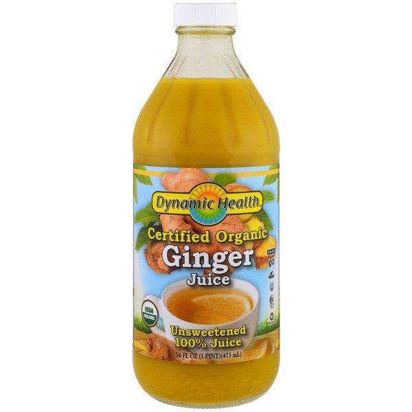Dynamic Health Certified Organic Ginger Juice - 16 fl oz bottle
