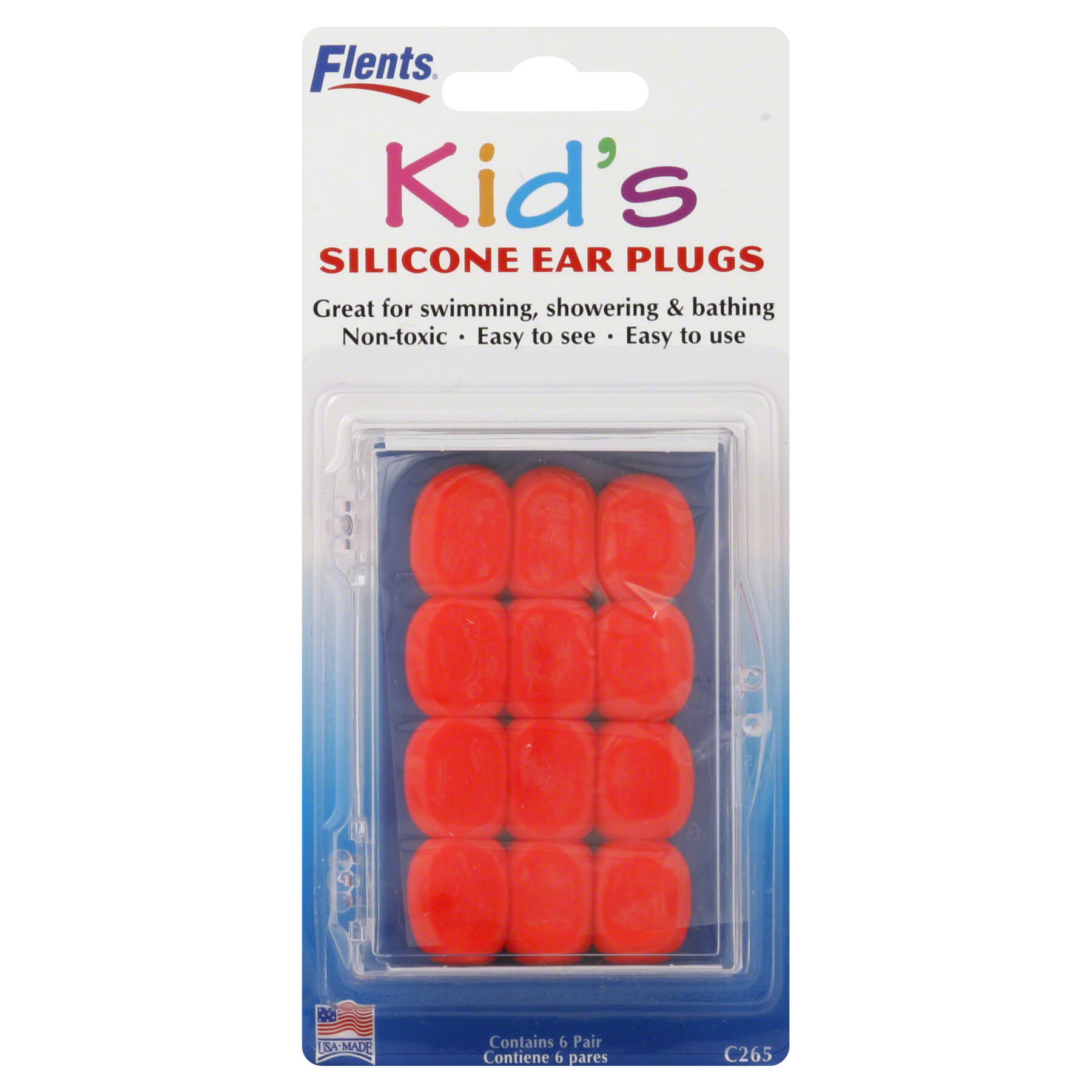 Flents Seal-Rite Kid's Silicone Ear Plugs - Assorted Colors, 6 Pairs