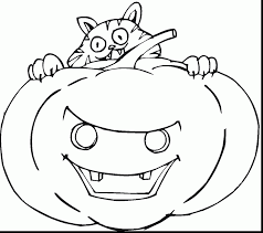 Scary Halloween Coloring Pages Online by Impressive Pumpkin Coloring Pages With Halloween Pumpkin Coloring