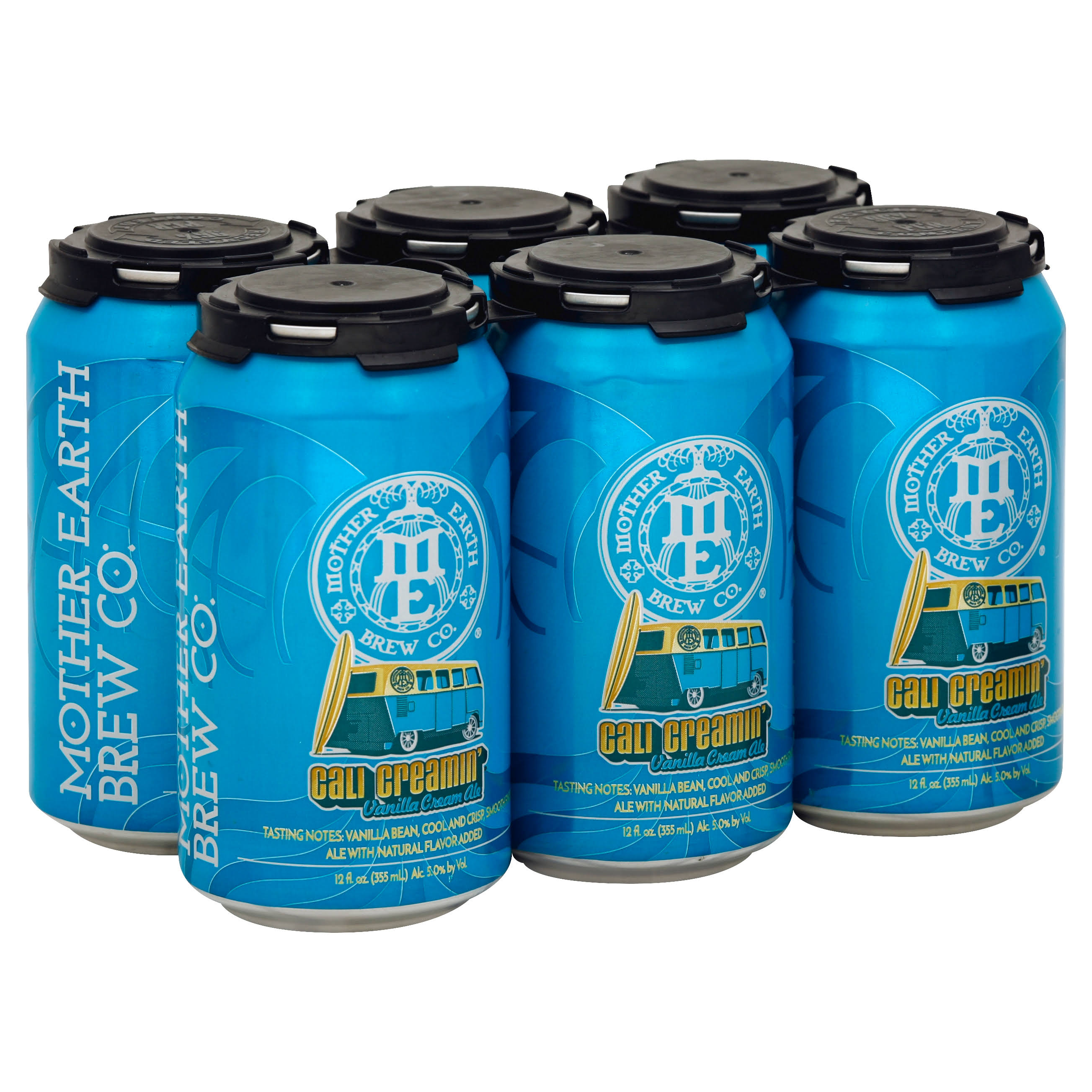 Mother Earth Brew Cali Creamin' Vanilla Cream Ale - 12oz, 6 Pack
