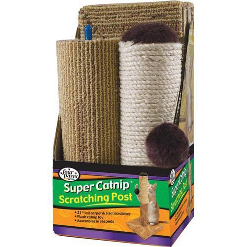 Four Paws Super Catnip Scratching Post - 21""