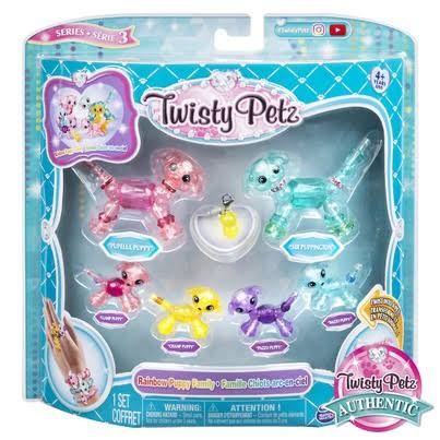 Twisty Petz Series 3 Rainbow Puppy Family Set