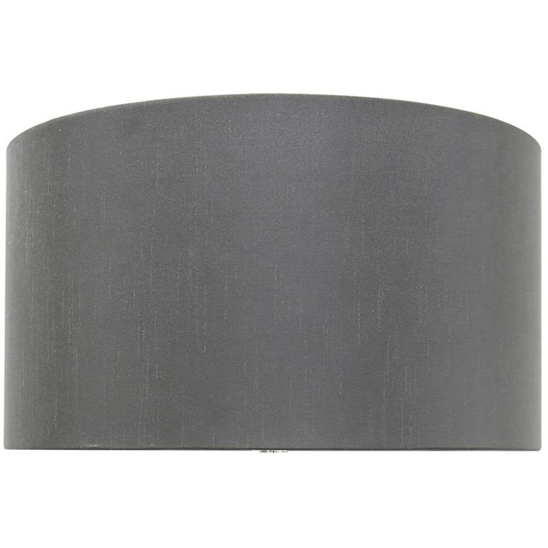 Big Living Grey 19 Inch Faux Silk Cylinder Shade