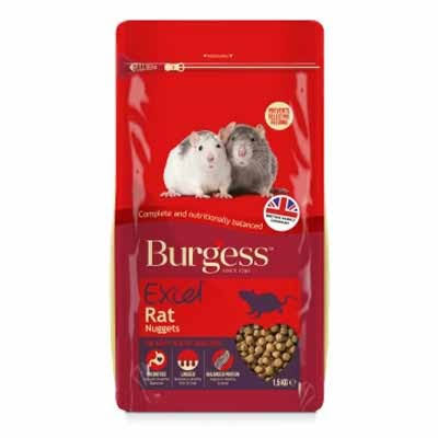 Burgess Excel Rat Nuggets Small Animal Treats - 1.5kg