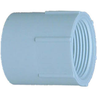 Genova Products Thread Female Adapter - White, 3/4""