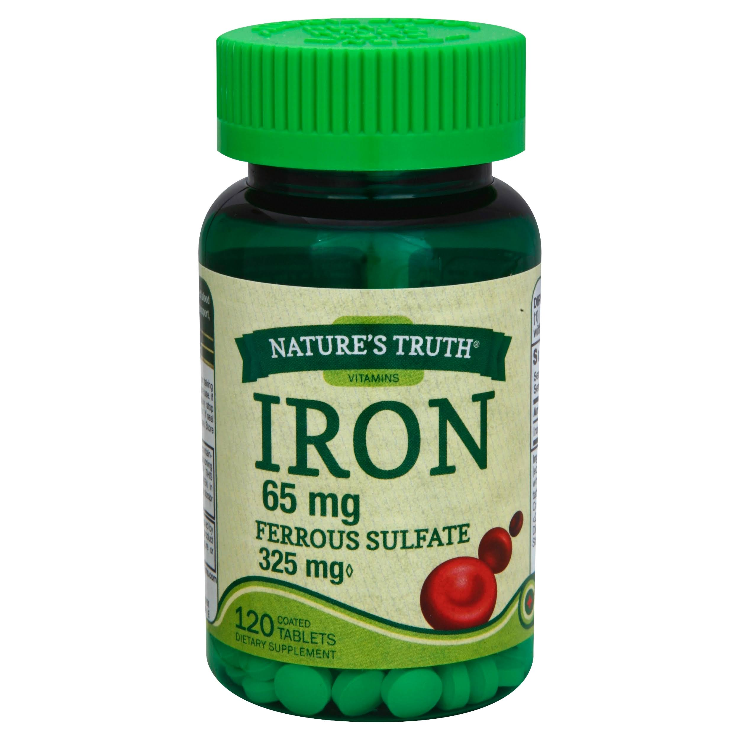 Nature's Truth Ferrous Sulfate Iron 65 mg Supplement - 120 Count