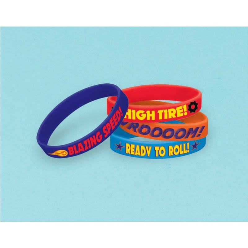 Amscan Blaze and the Monster Machines Rubber Bracelet Favors - 4pk
