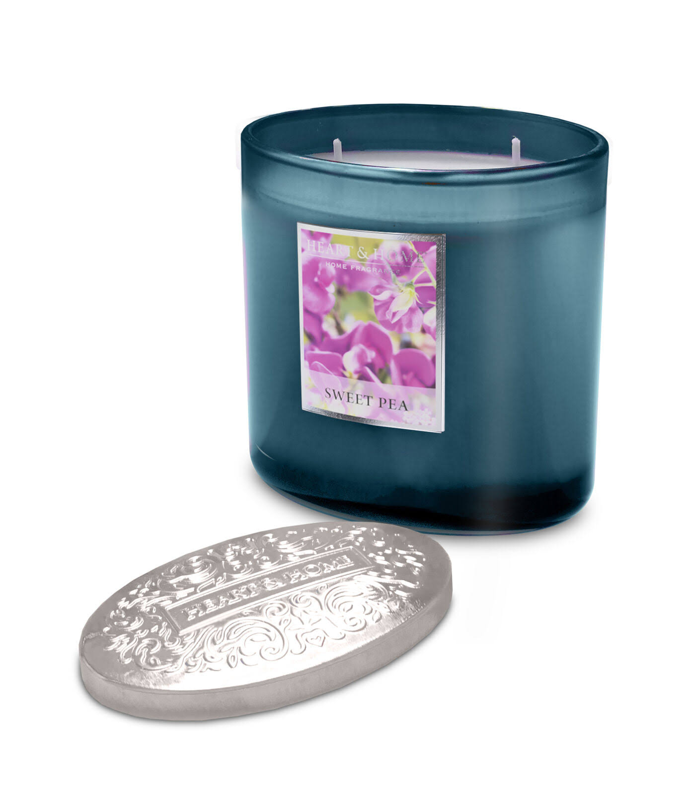 Heart and Home 2 Wick Ellipse Candle - Sweet Pea