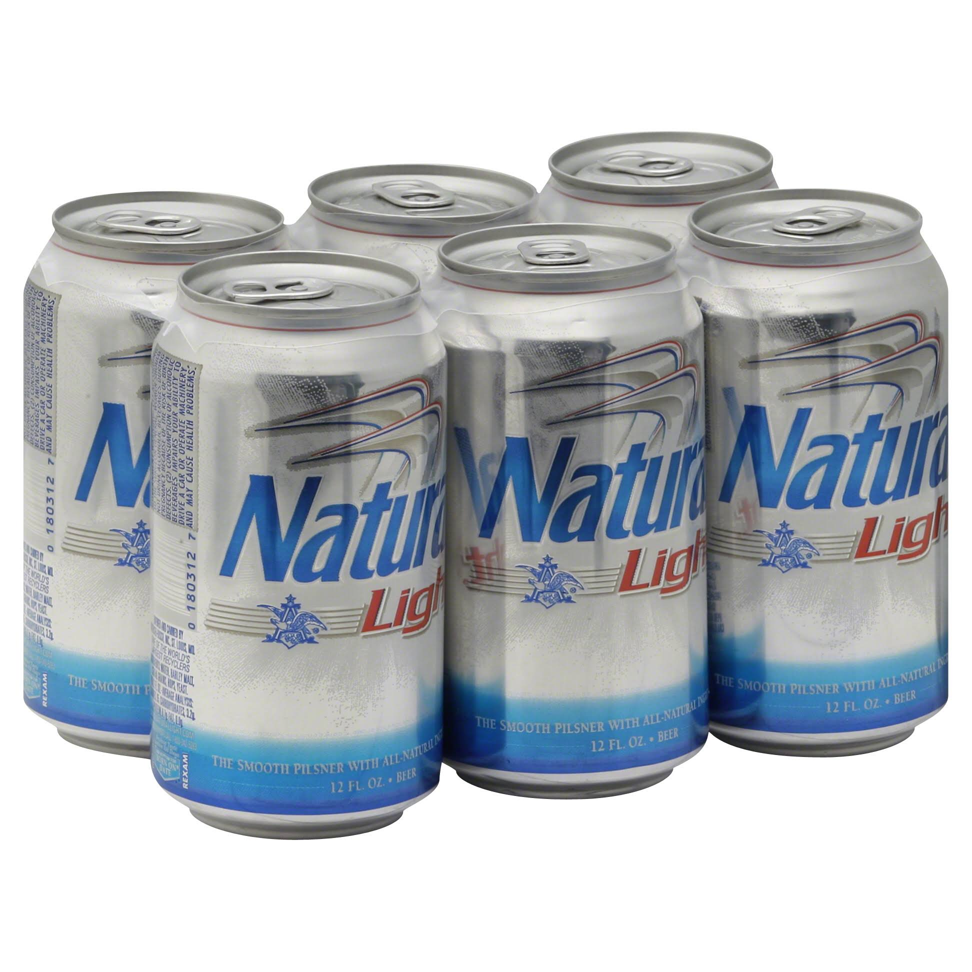Natural Light Beer - x6