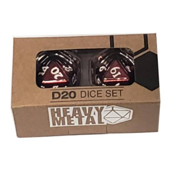 Ultra Pro Heavy Metal Dice: D20 Red