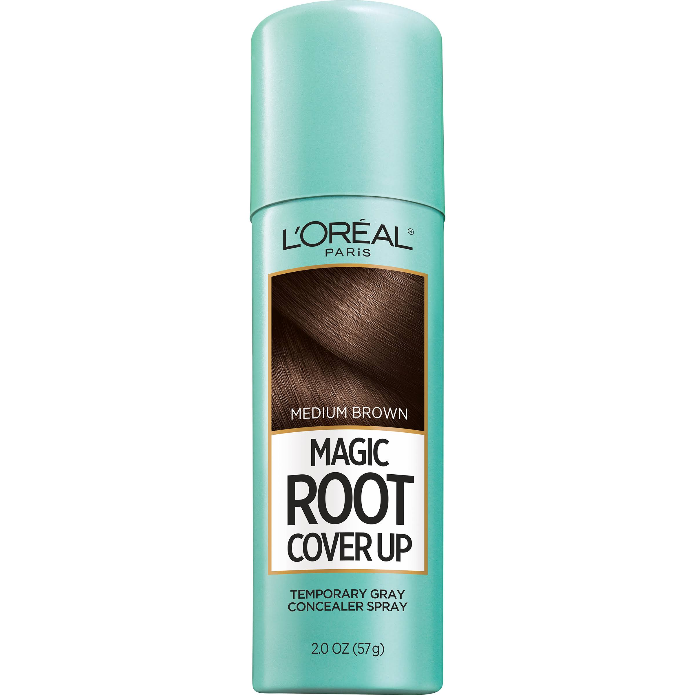 L'Oréal Paris Root Cover Up Temporary Gray Concealer Spray - Light to Medium Brown, 57g