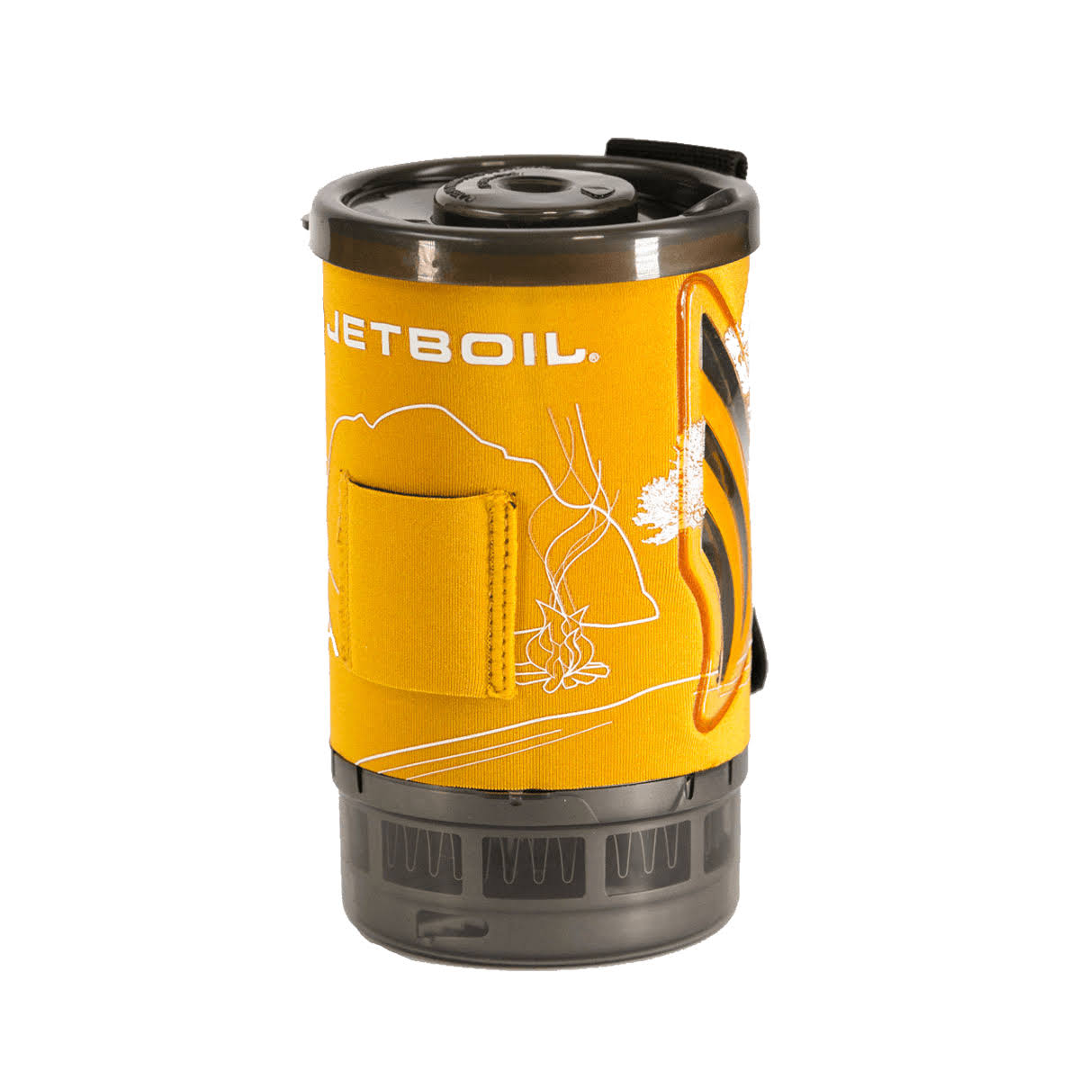 Jetboil Flash Cozy Orange Line Art
