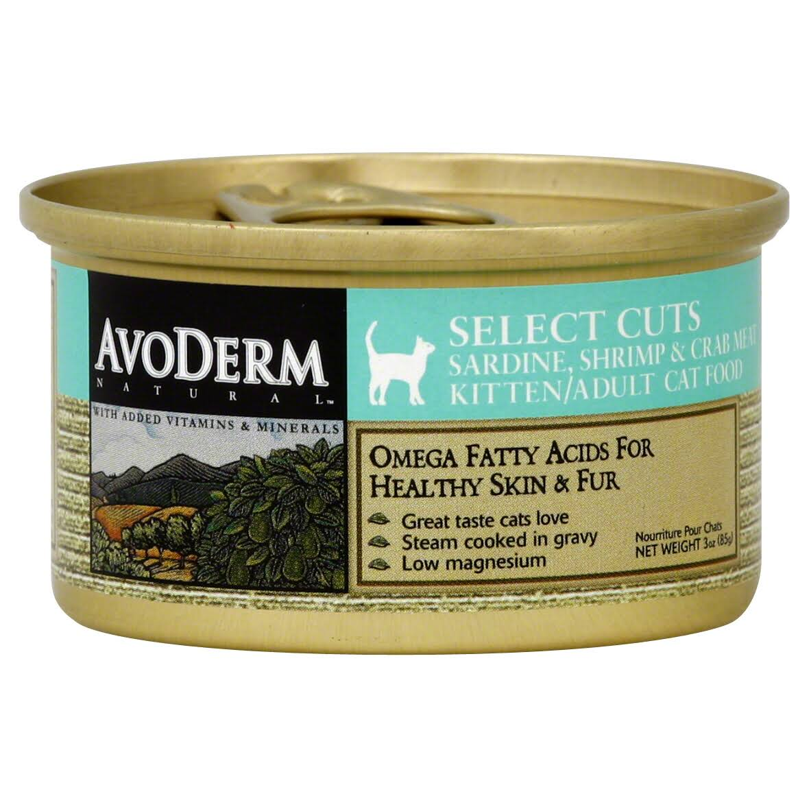 Avoderm Natural Select Cuts Cat Food - Sardine Shrimp & Crab Meat