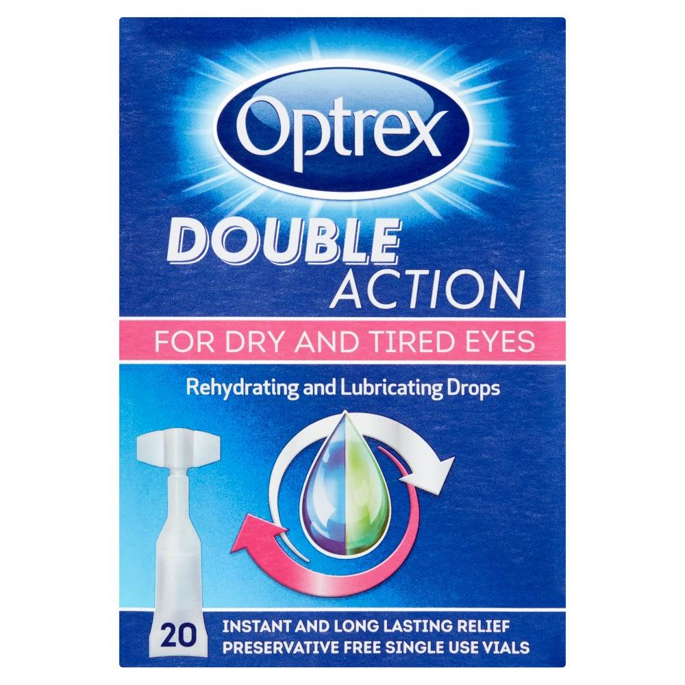 Optrex Double Action Rehydrating and Lubricating Drops - 20 x 0.5ml Vials