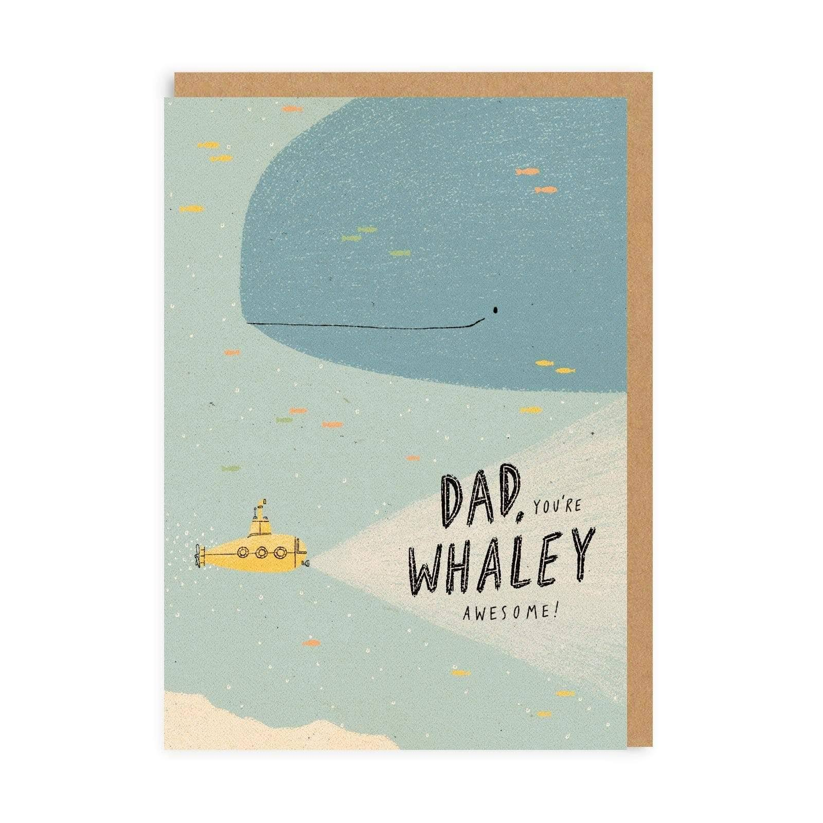 Ohh Deer Dad Youre Whaley Awesome Greeting Card