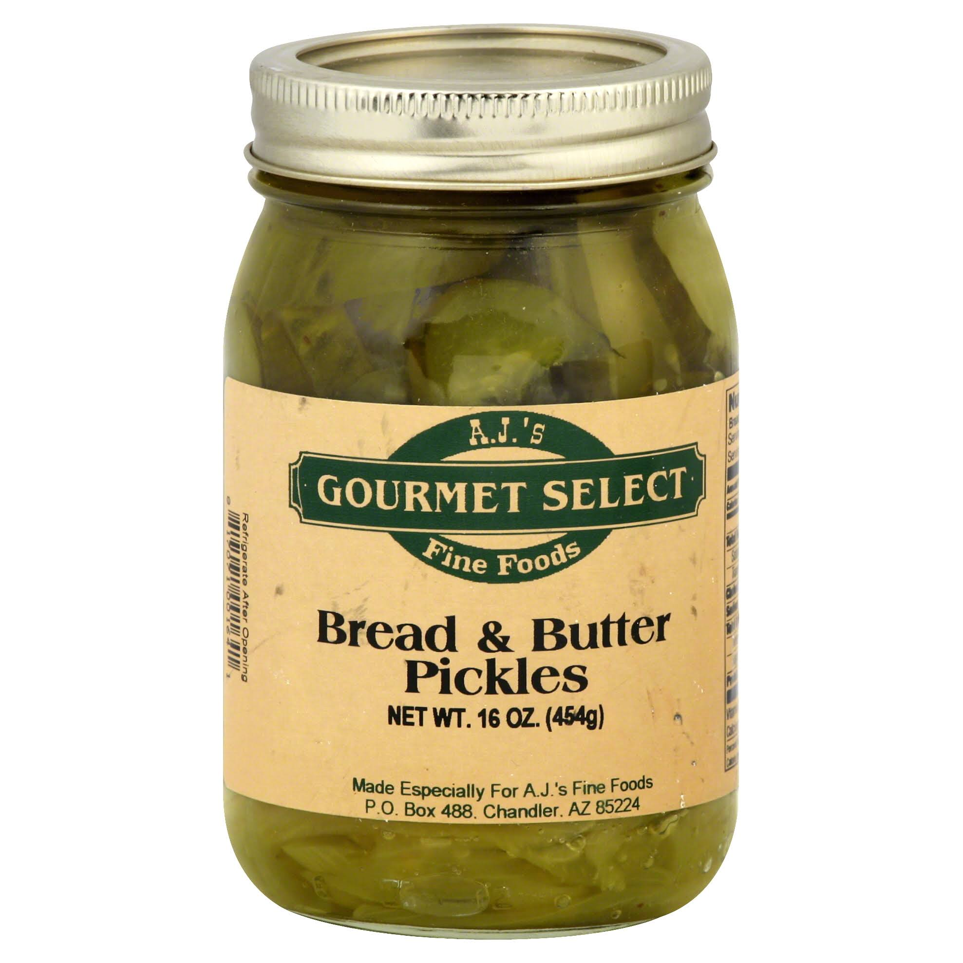 Gourmet Select Gourmet Select Pickles, Bread & Butter - 16 oz