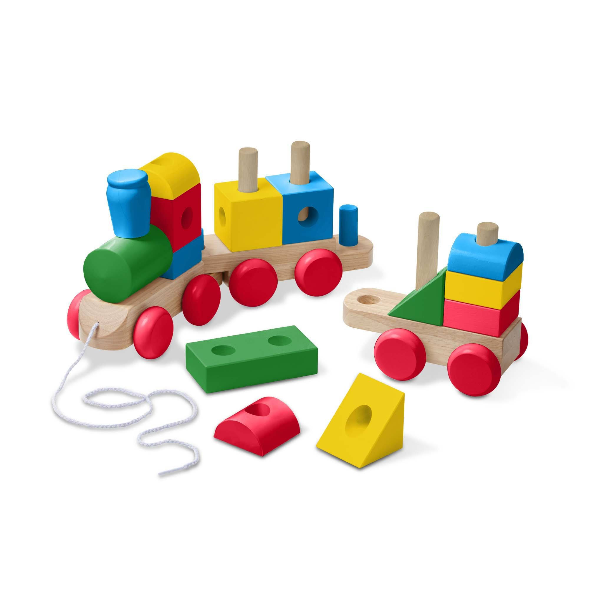 Melissa & Doug - Jumbo Wooden Stacking Train - Classic