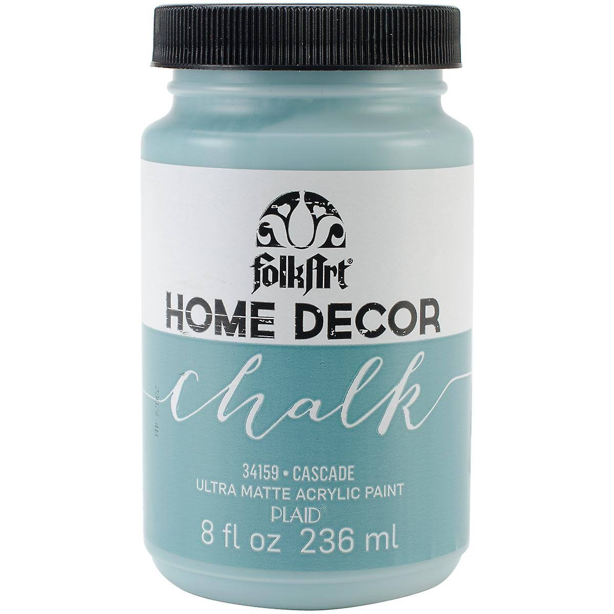 Folkart Home Decor Ultra-Matte Chalk Finish Paint - 34159 Cascade, 236ml