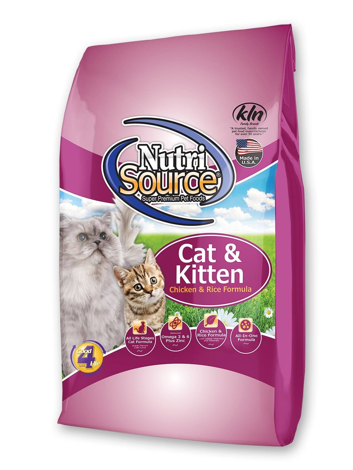 Nutri Source Natural Premium Cat & Kitten Food - Chicken & Rice Formula, 1.5lb